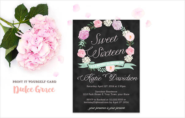 Super Sweet Sixteen Invitation