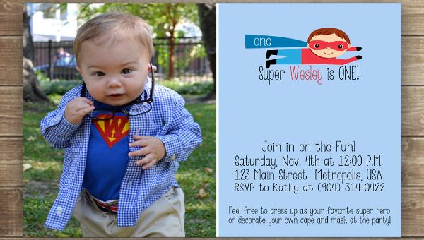 11 Superhero Birthday Invitation Designs