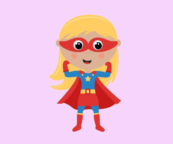 Superhero Girl Clip Art