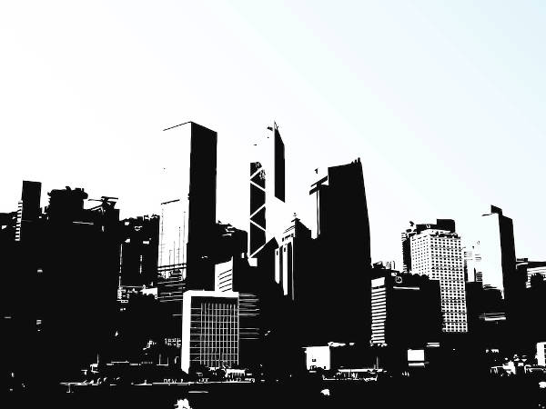 Superhero Skyline Clip Art