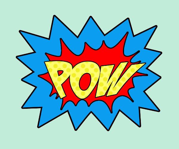 Superhero Words Clip Art