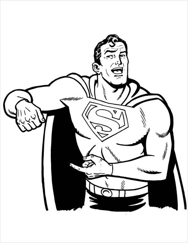 Superman Cartoon Coloring Page