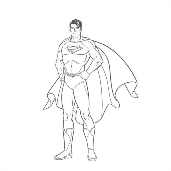 Superman Coloring Pages for Adults