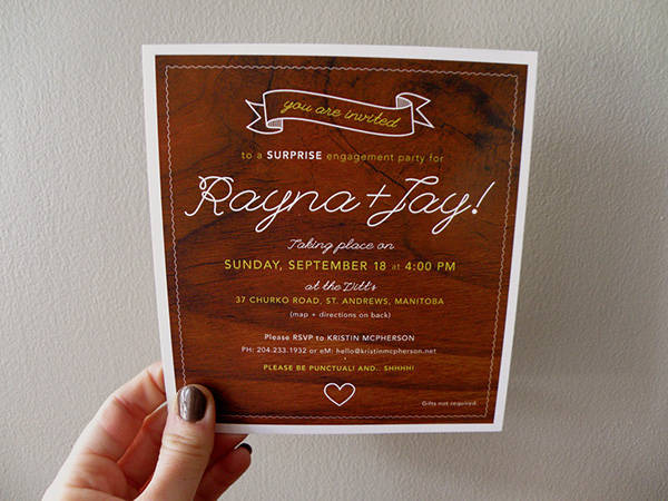Surprise Engagement Party Invitation