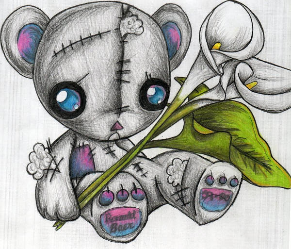 Teddy Bear Tattoo Drawing