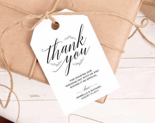 Thank You Gift Tag Design