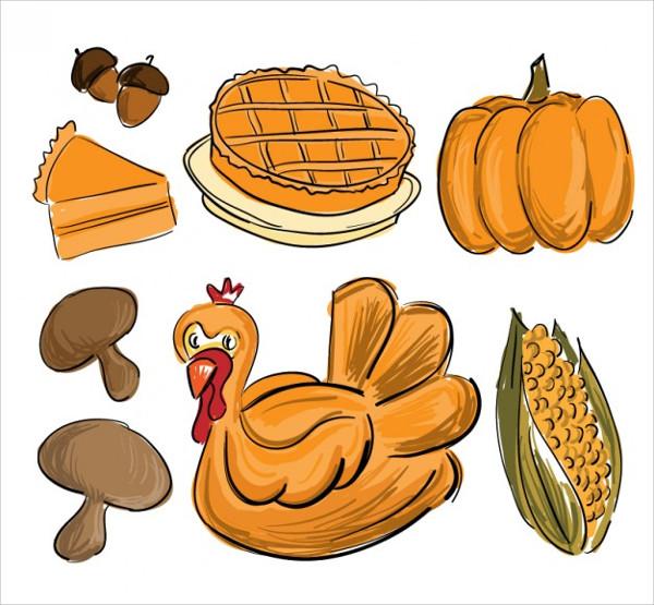 Thanksgiving Food Drawing