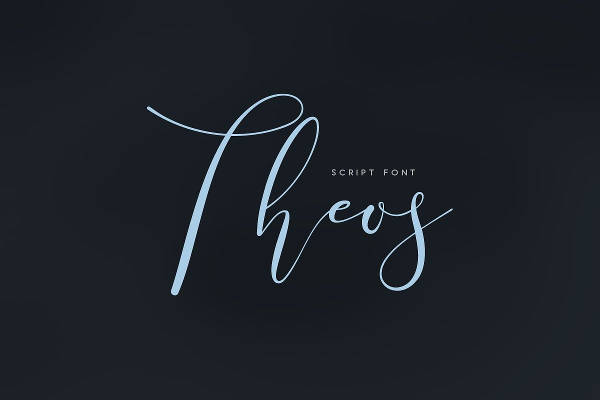 Theos Script Letters