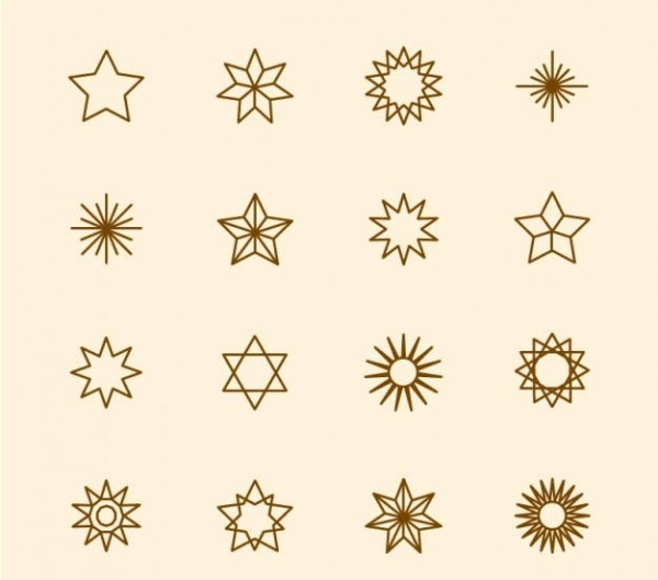 Thin Outlined Star icons