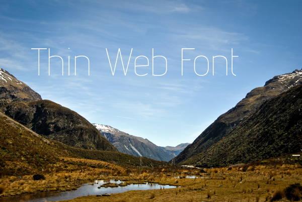 Thin Web Font