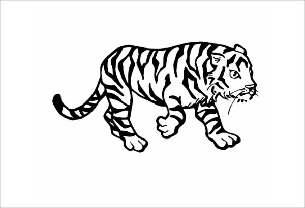 Tiger Animal Coloring Page