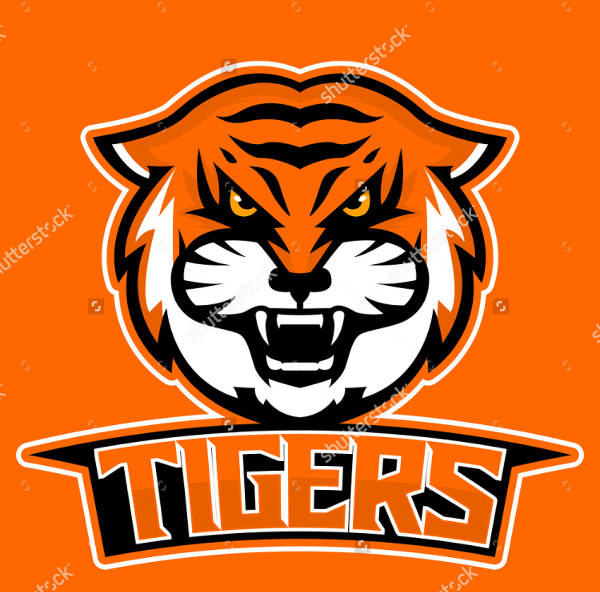 Tiger Mascot Sports Logo