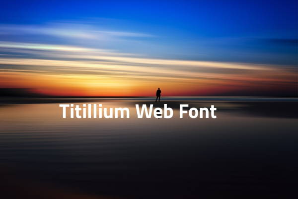 Titilium Web Font