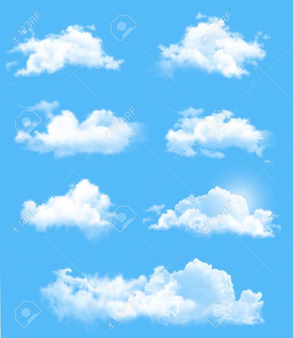 Transparent Clouds Vector