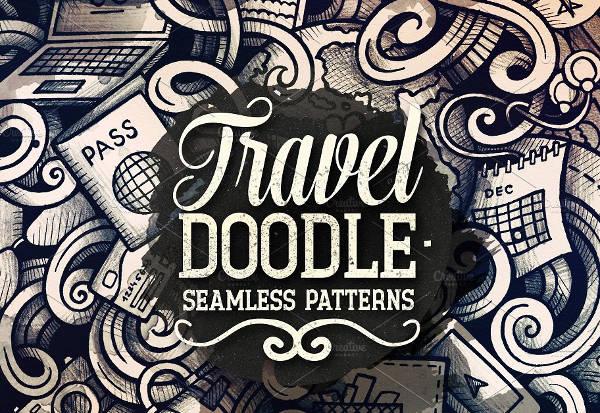 Travel Doodles Patterns