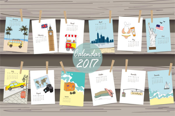 travel and vacation holidays calendar
