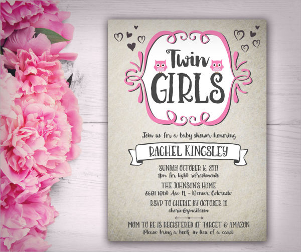 9 Girl Baby Shower Invitations Jpg Vector Eps Ai Illustrator