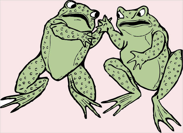 Two Frogs Clipart