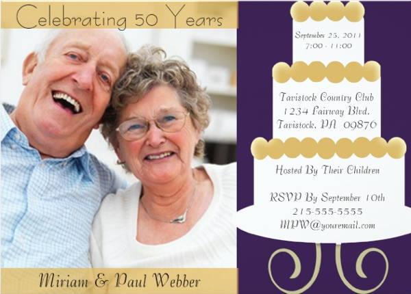 Unique Anniversary Invitation