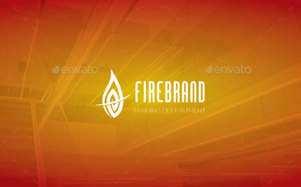 Unique Fire Brand Logo Design