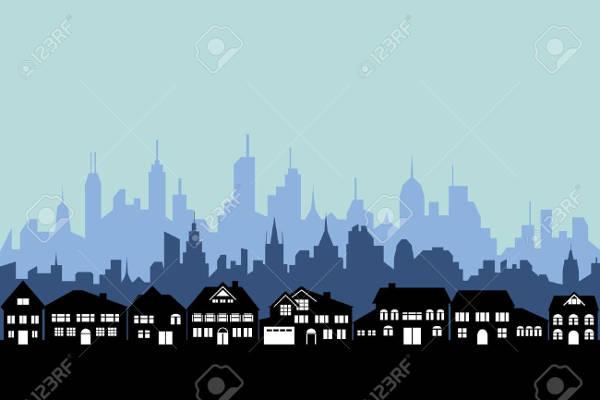 Urban City Silhouette