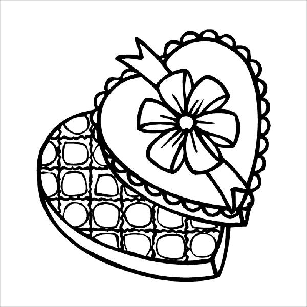 Valentine Coloring Page for Boys
