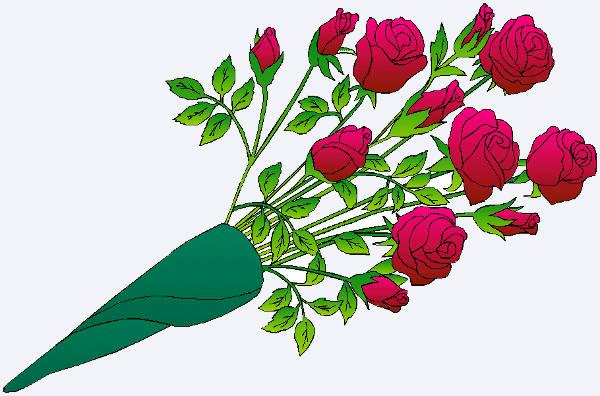 Valentine Roses Clip Art