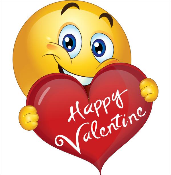 Valentine Smiley Face Clip Art