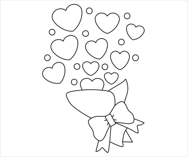 Valentines Party Coloring Page