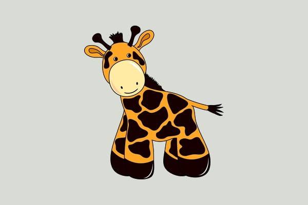 vector giraffe clipart