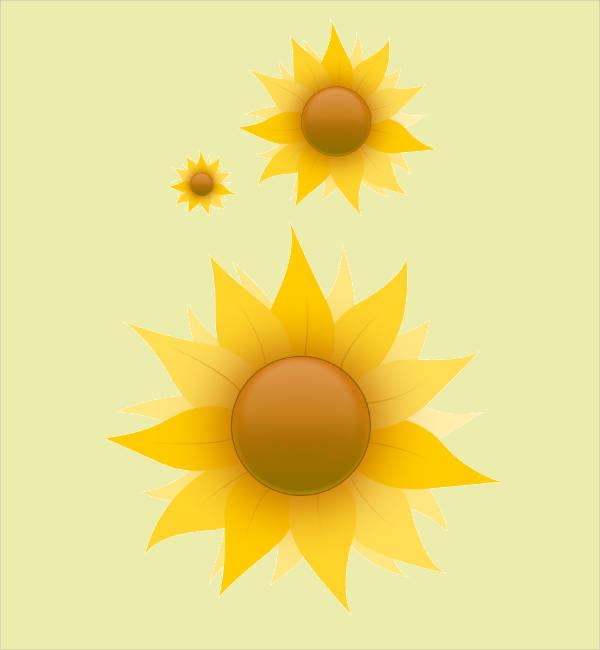 Vector Sunflower Clipart