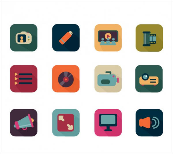 Video Flat Icons