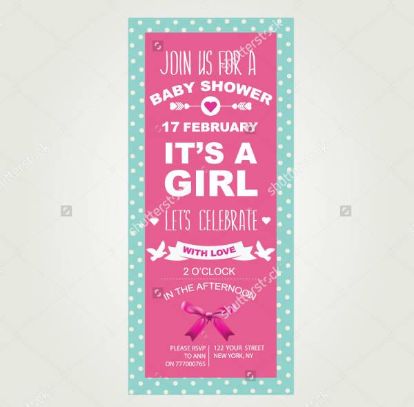 Vintage Baby Shower Invitation for Girl