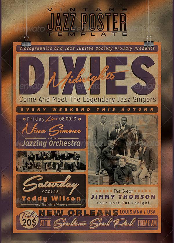 Vintage Band Poster