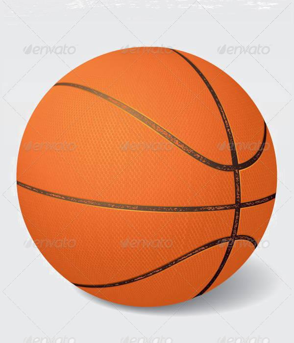 Vintage Basketball Vector