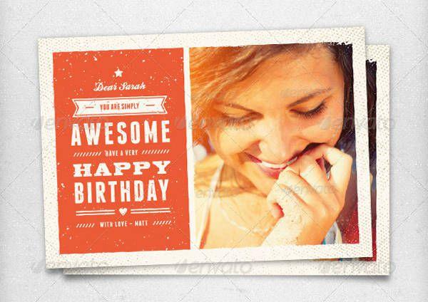 Vintage Birthday Card Idea