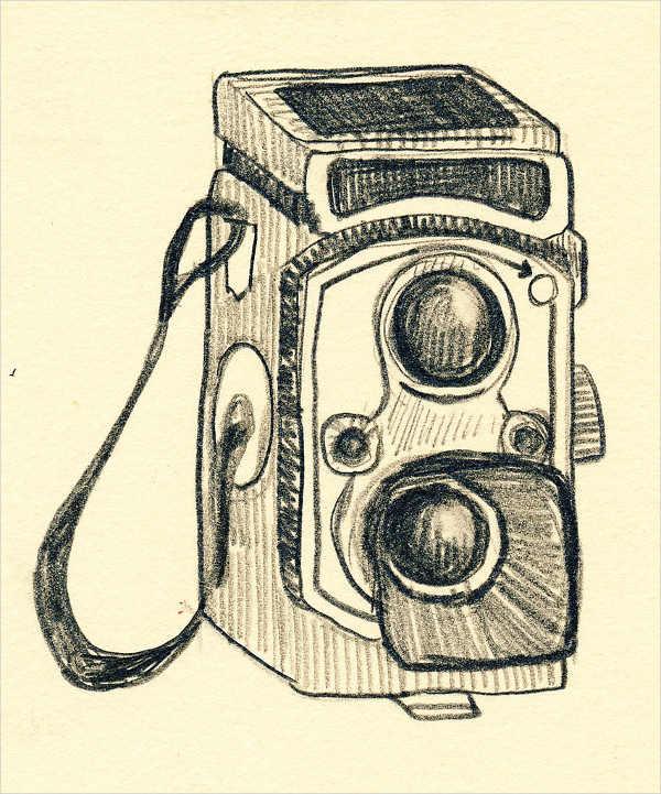 Vintage Camera Drawing