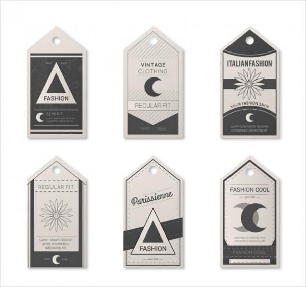 Vintage Clothing Tag Design
