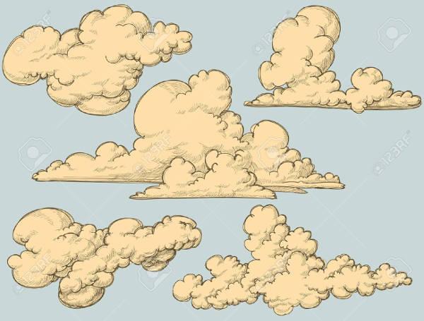 Vintage Cloud Clipart