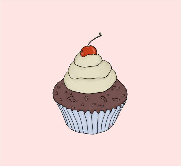 Vintage Cupcake Clipart