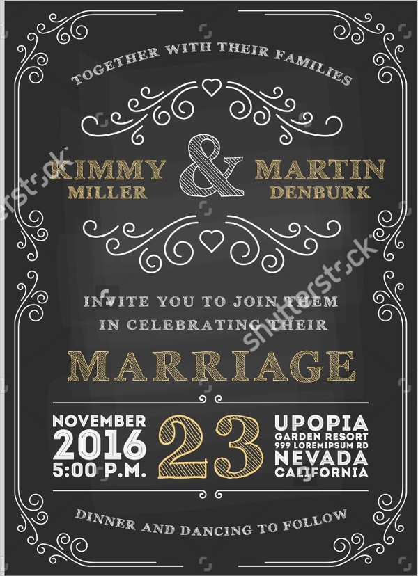 Vintage Engagement Invitation Design
