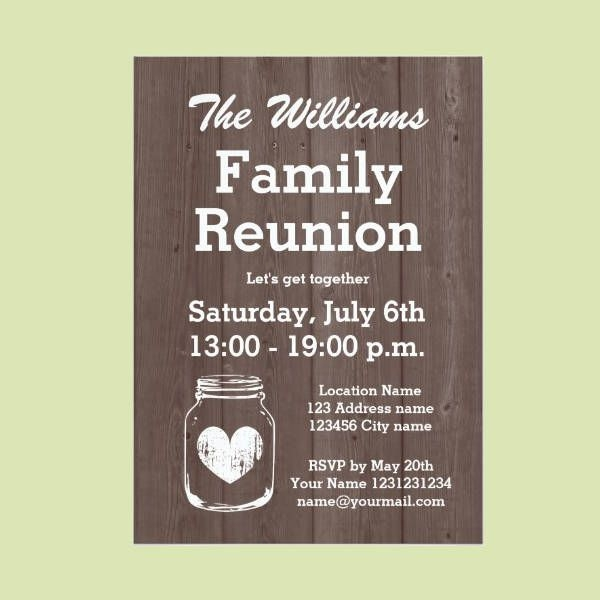 Vintage Family Reunion Invitation