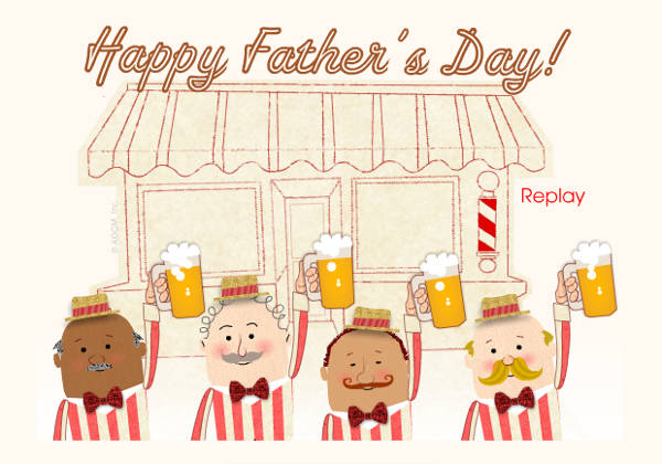 vintage fathers day ecard