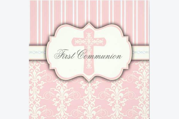 Vintage First Communion Invitation