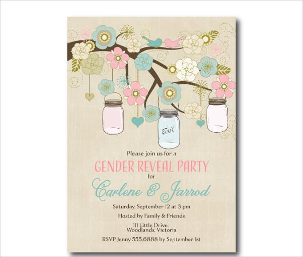 Vintage Gender Reveal Invitation