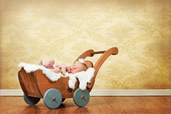 Vintage Newborn Photography