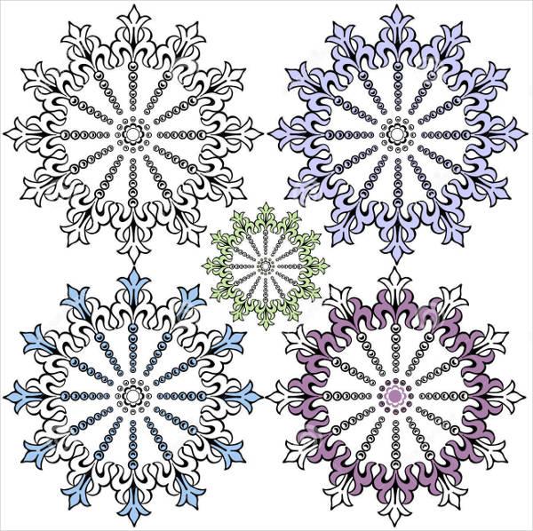 Vintage Snowflake Vector