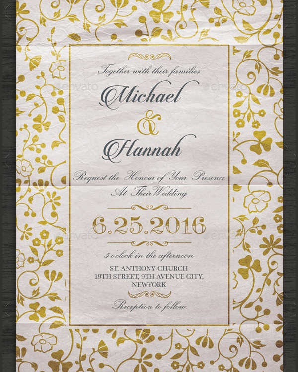 Vintage Wedding Invitation Design