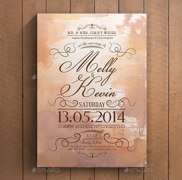 Vintage Wedding Reception Invitation Design