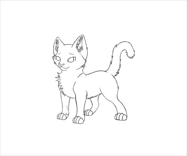 Warrior Cat Coloring Page